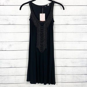 NWT Urban Outfitters Lux Beaded Front Mini Dress